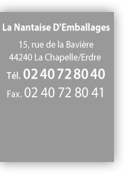 fiche contact de La Nantaise d'emballage LNDE